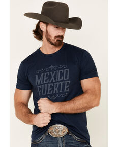 Cody James Men's Navy Mexico Fuerte Graphic T-Shirt , Navy, hi-res