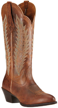 Ariat Sassy Brown Desert Sky Cowgirl Boots - Round Toe, Brown, hi-res