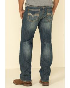 Rock & Roll Cowboy Men's Reflex Vintage Stretch Pistol Regular Straight Jeans , Blue, hi-res