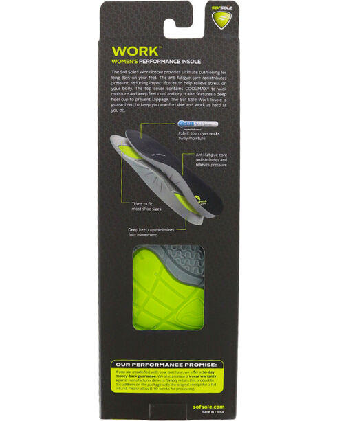 SofSole Women's Work Performance Insoles, No Color, hi-res