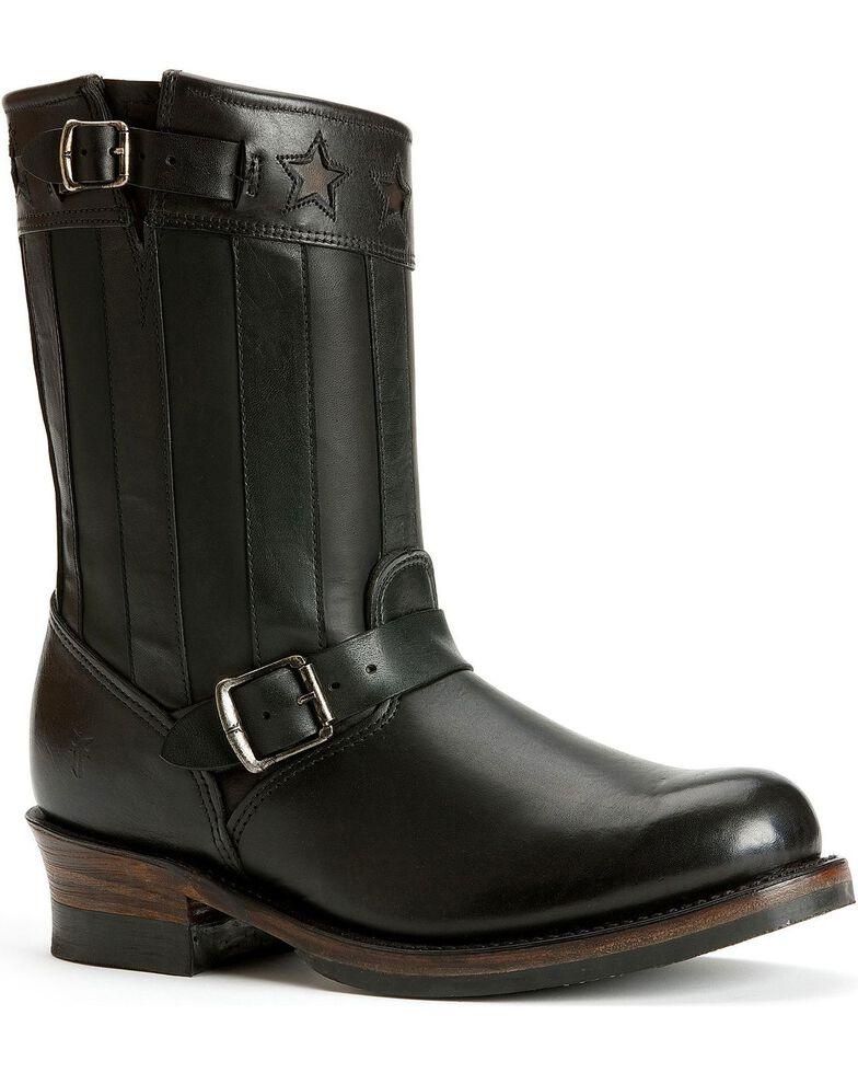 Frye Women's Engineer Americana Short Boots - Round Toe, Black, hi-res