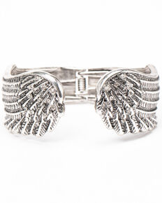 Shyanne Women's Sparkle N' Spice Wing Cuff, Silver, hi-res
