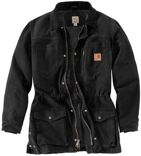 Carhartt Men's Canyon Ranch Coat, Black, hi-res