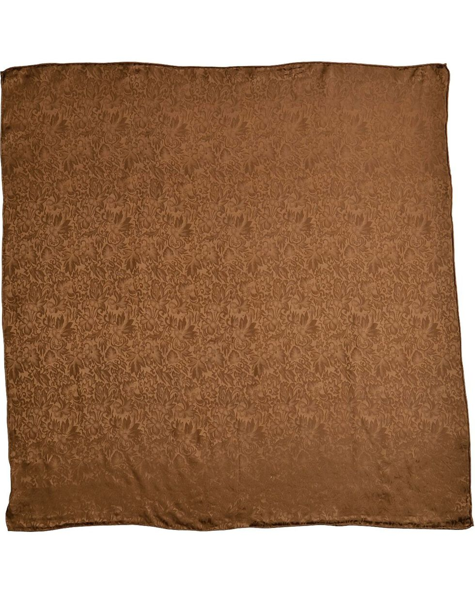 Brown Jacquard Silk Wild Rag, Brown, hi-res