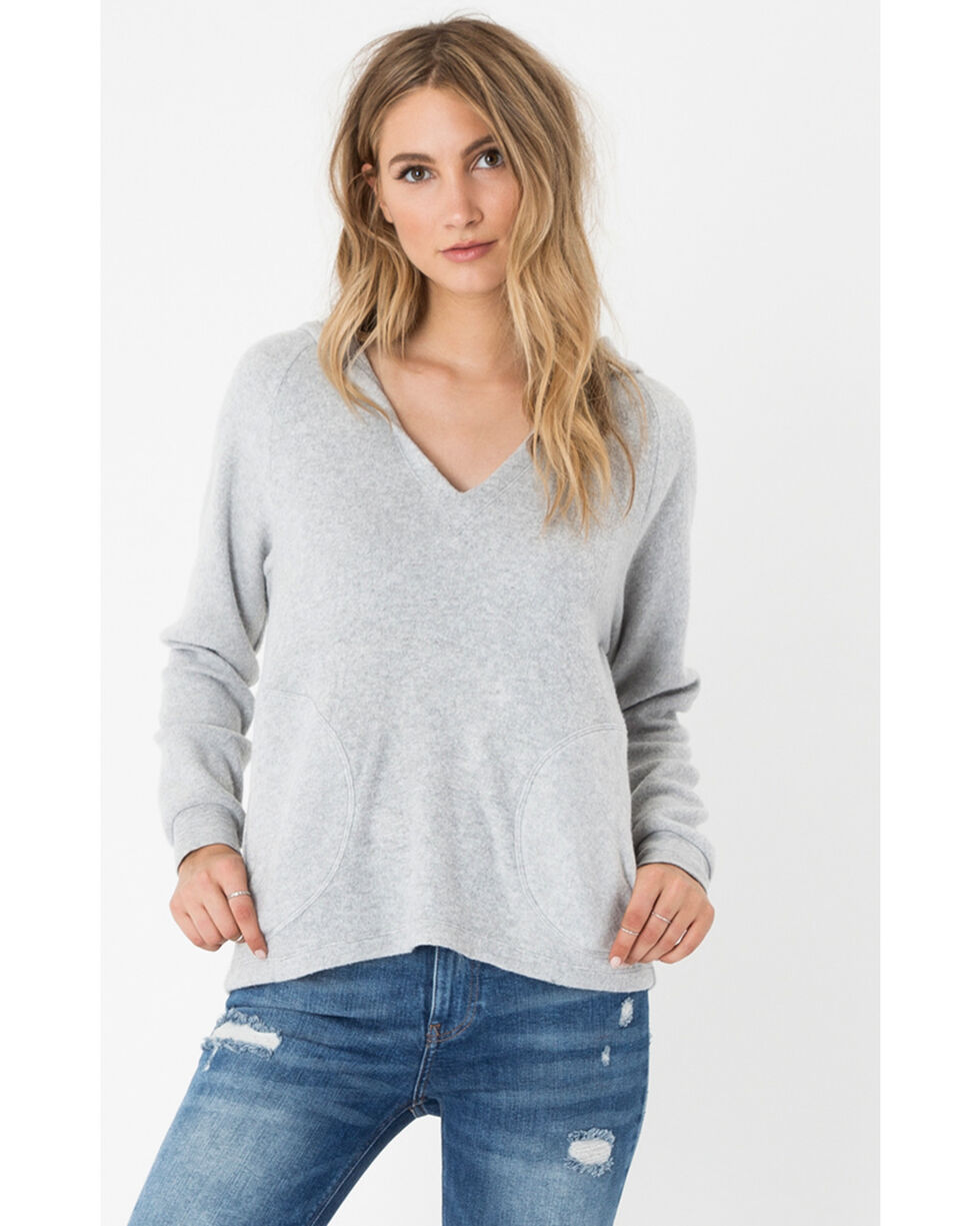 Z Supply Women's Silver The Loft Hoodie , Silver, hi-res
