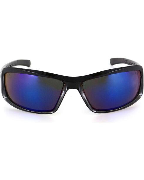 Edge Eyewear Brazeau Blue Mirror Safety Sunglasses, Black, hi-res