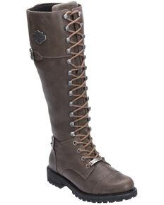 Harley Davidson Women's Beechwood Moto Boots - Round Toe, Grey, hi-res