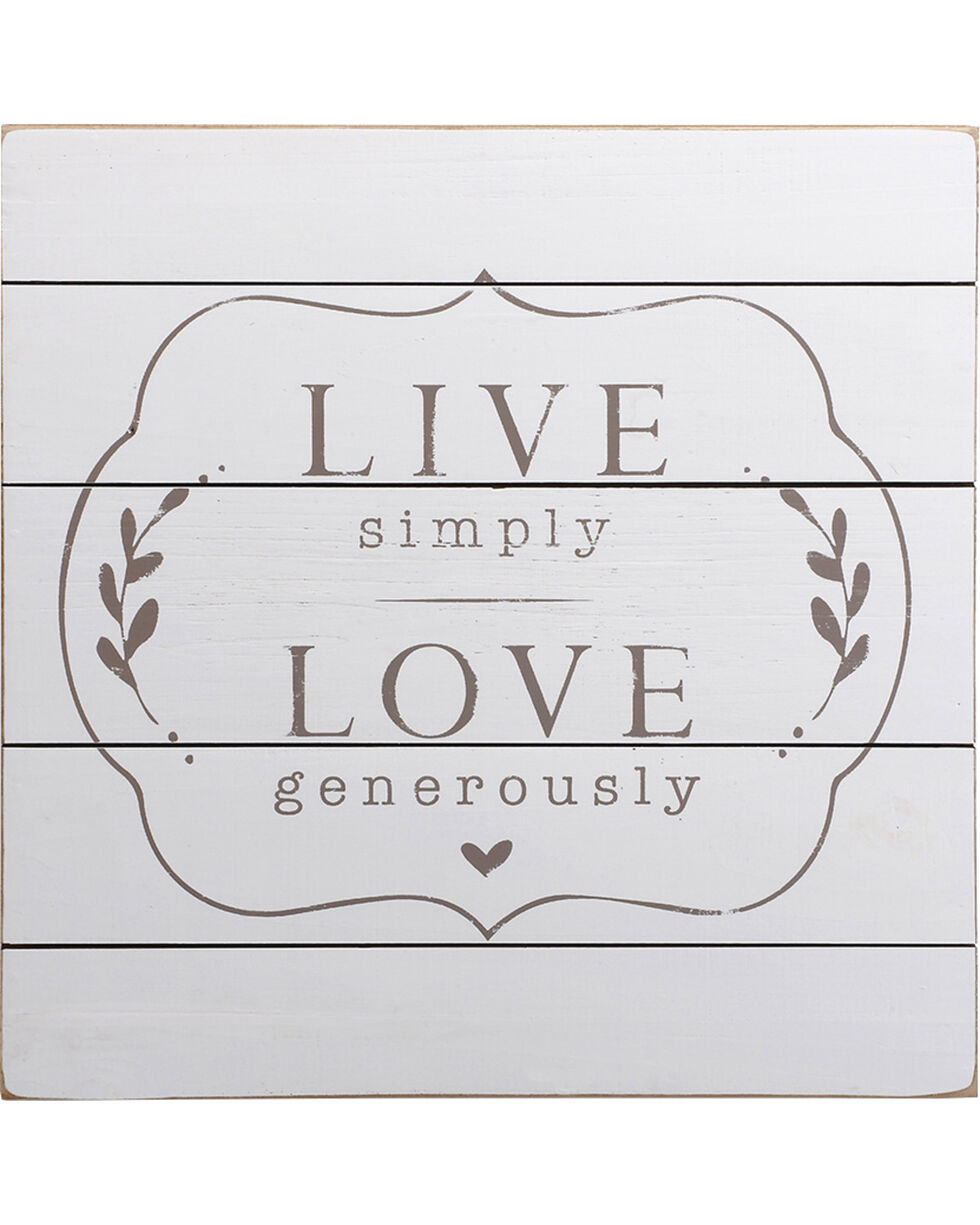 Demdaco Live Love Wall Art , White, hi-res