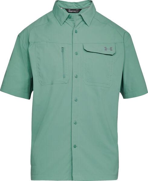 Under Armour Men's Fish Hunter Short Sleeve Shirt , Green, hi-res