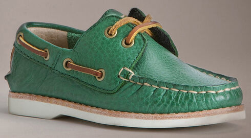 Frye Boys' Sully Boat Shoes, Green, hi-res