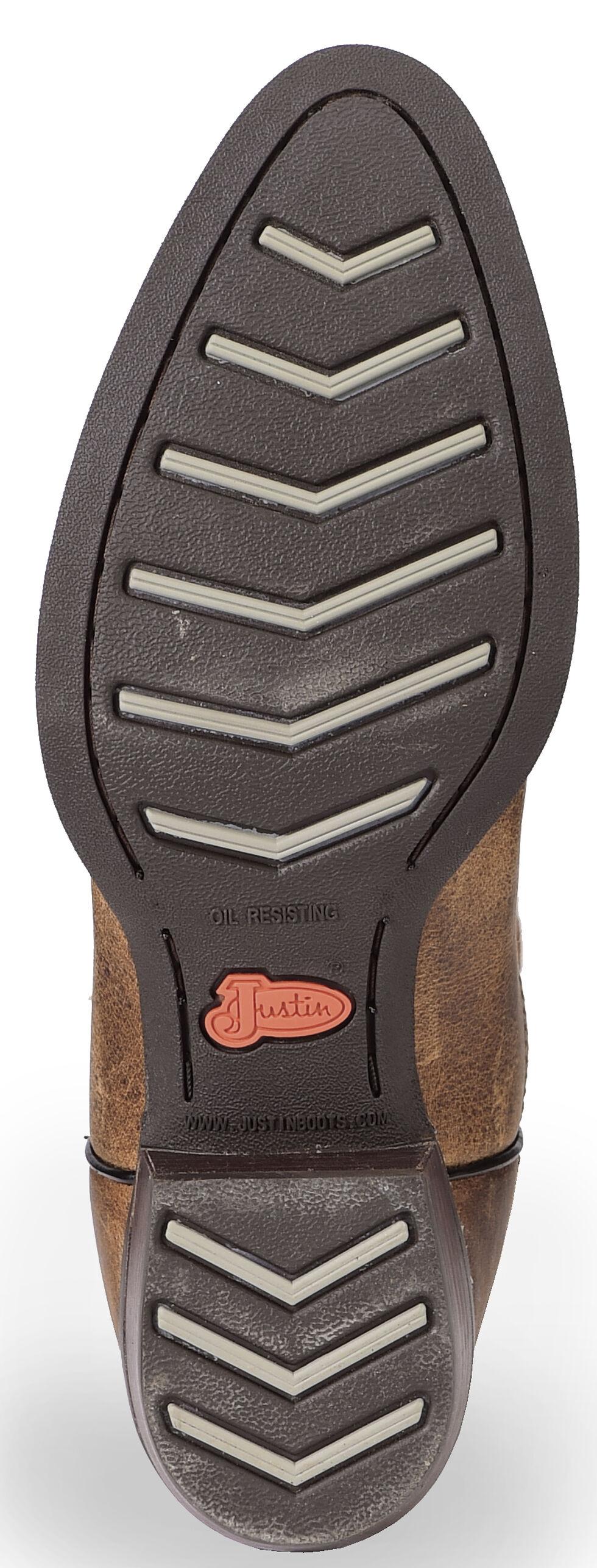 Justin Men's Silver Antique Buffalo Cowboy Boots - Medium Toe, Antique Brown, hi-res