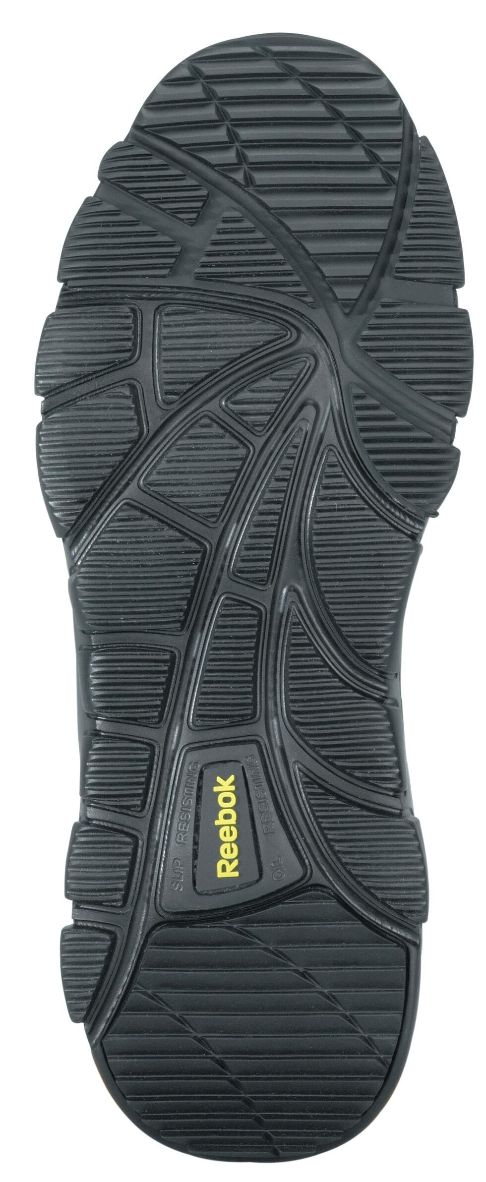 Reebok Men's Arion Oxford Work Shoes - Composite Toe, Black, hi-res
