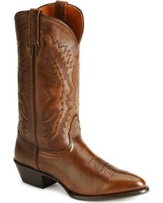 Nocona Men's Imperial Calfskin Cowboy Boots - Medium Toe, Tan, hi-res