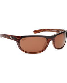 Hobie Men's Satin Brown Wood Grain Polarized Cruz Sunglasses  , Brown, hi-res