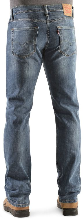 Levi's 527 Black Stone Rinse Bootcut Jeans, Dark Denim, hi-res