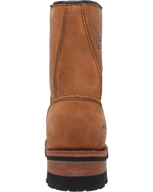 """Ad Tec Women's 9"""" Brown Leather Logger Boots - Soft Toe, Brown, hi-res"""