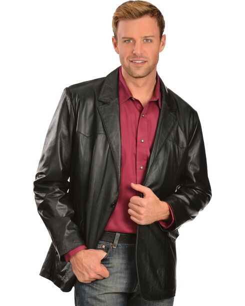 Scully Lamb Leather Blazer - Big, Black, hi-res