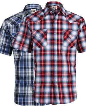 Ely Cattleman Men's Assorted Plaid Short Sleeve Shirt, Multi, hi-res