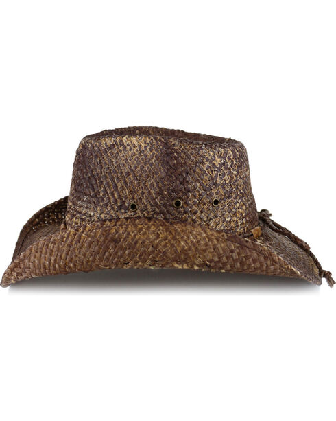 Cody James® Rugged Pinch Front Straw Hat, Brown, hi-res