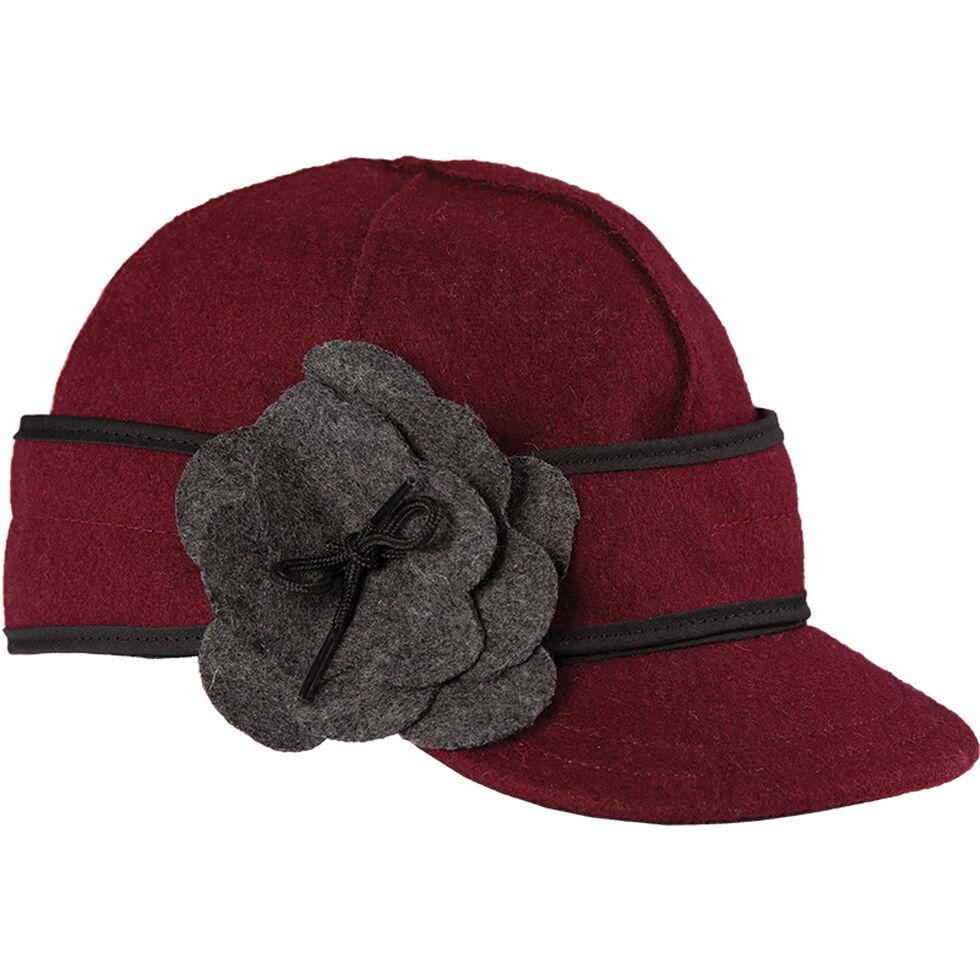 Stormy Kromer Women's Petal Pusher Cap, Wine, hi-res