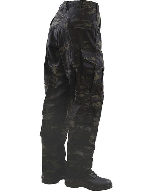 Tru-Spec Tactical Response Camo Uniform Pants - Big and Tall, Black, hi-res