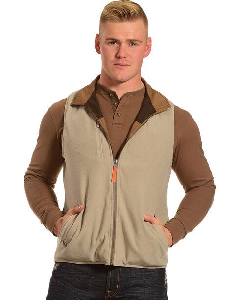 American Worker® Men's Brown Reversible Major Canvas Vest - Tall, Brown, hi-res