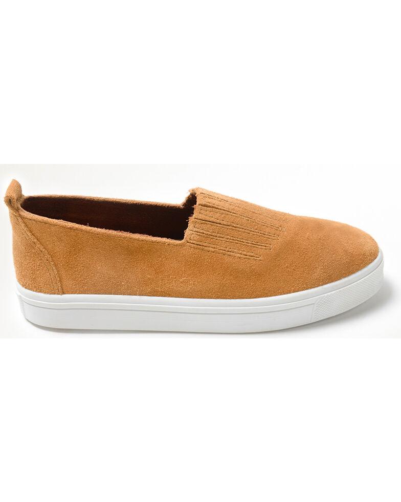 Minnetonka Women's Gabi Slip On Shoes - Round Toe, Taupe, hi-res