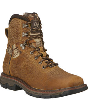 "Ariat Men's 6"" Conquest Waterproof Boots, Brown, hi-res"