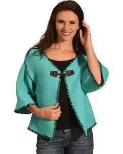 Angel Premium Women's Arizona Short Cardigan, Teal, hi-res
