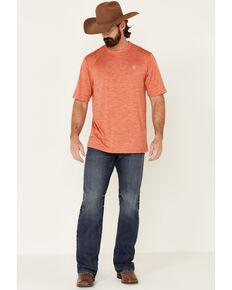 Ariat Men's Orange Charger Basic Short Sleeve T-Shirt , Orange, hi-res