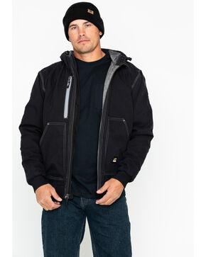 Berne Men's Solid Modern Hooded Work Jacket , Black, hi-res