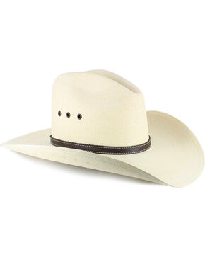 Atwood Men's Gus 7X Palm Leaf Straw Cowboy Hat, Natural, hi-res