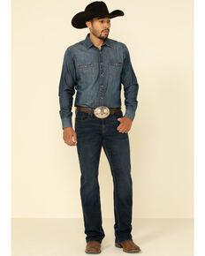 Cody James Men's Shindig Dark Stretch Slim Bootcut Jeans , Blue, hi-res