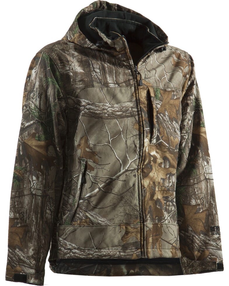 Berne Men's Shedhorn Realtree Camo Softshell Jacket - Tall Sizes, Camouflage, hi-res