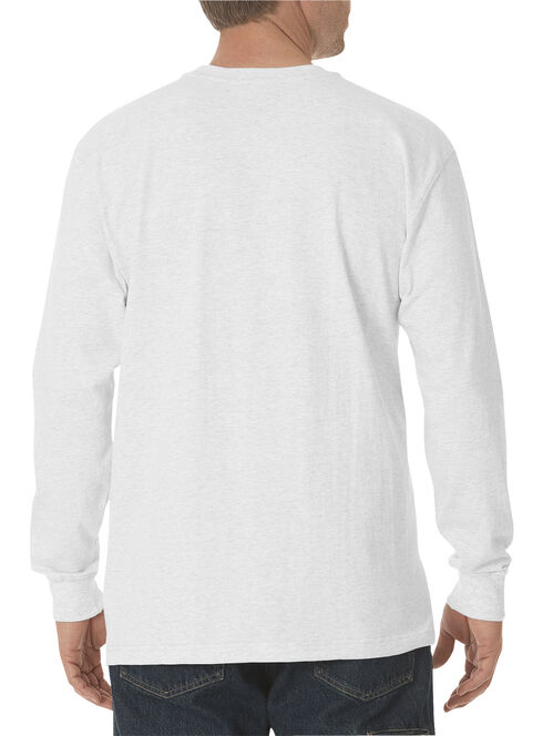 Dickies Men's Heavy Weight Crew Long Sleeve Tee - Big & Tall, White, hi-res