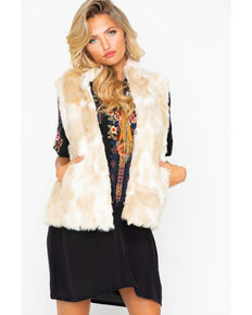 Jack By BB Dakota Women's Faux Fur What Vest , Ivory, hi-res