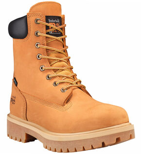 "Timberland Pro Men's Tan 8"" Waterproof Insulated Work Boots - Round Toe , Tan, hi-res"