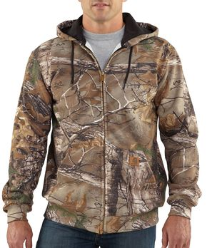 Carhartt Realtree Xtra® Camo Midweight Hooded Zip-Front Sweatshirt - Big & Tall, Camouflage, hi-res