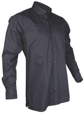 Tru-Spec Men's Black Pinnacle Long Sleeve Shirt , Black, hi-res