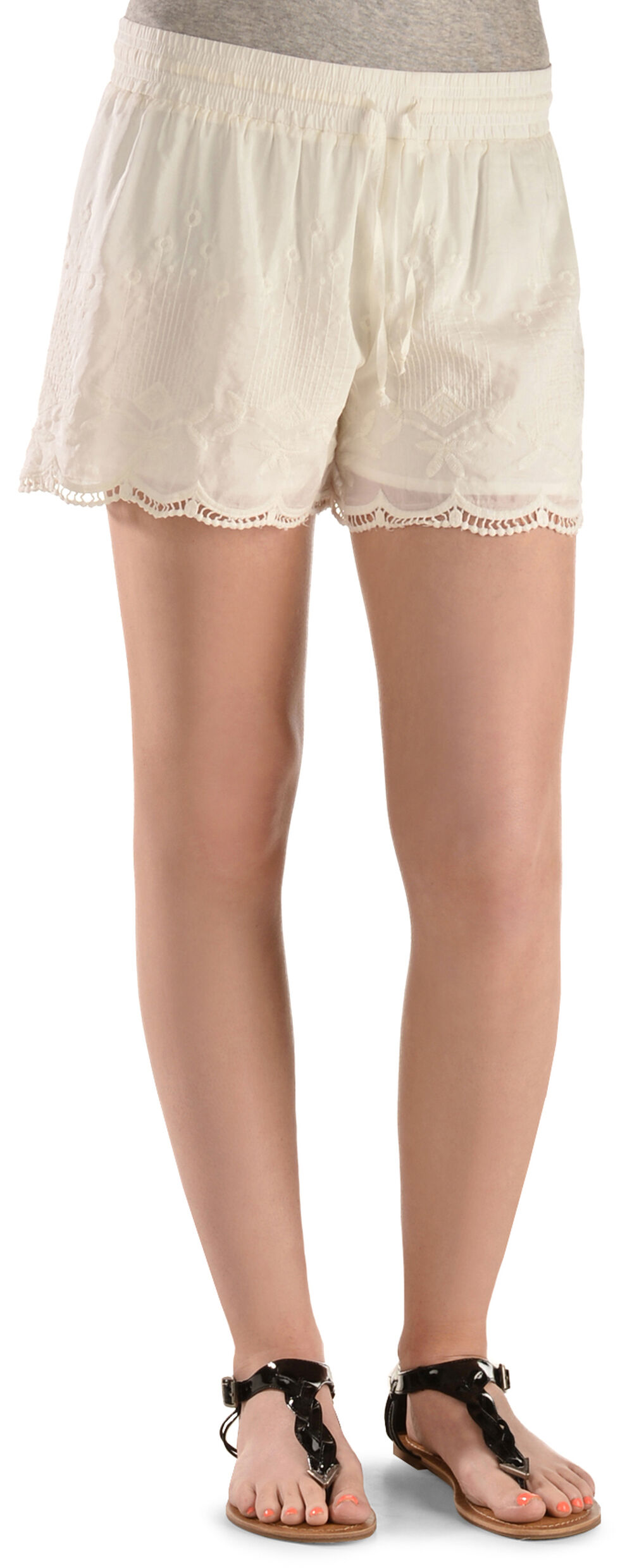 Black Swan White Queen's Lace Shorts, White, hi-res