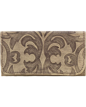 American West Sand Baroque Tri-Fold Wallet , Sand, hi-res