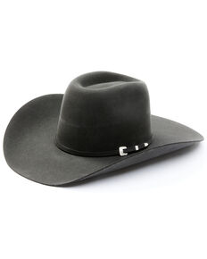 Serratelli Charcoal 6X Dallas Beaver Fur Felt Western Hat , Charcoal, hi-res