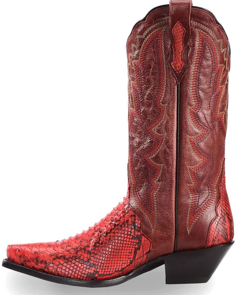 a101dd55fe9 Dan Post Women's Red Back Cut Python Triad Cowgirl Boots - Snip Toe