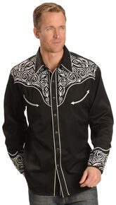 894832c6d56 Scully Full Stitched Yoke Retro Western Shirt