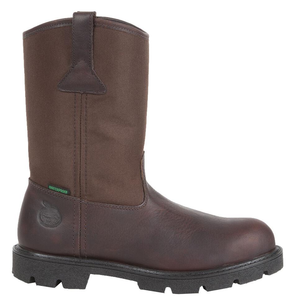 Georgia Homeland Waterproof Wellington Boots - Round Toe, Brown, hi-res