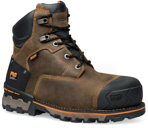 """Timberland Pro Boondock Waterproof 6"""" Lace-up Work Boots - Composite Toe, Brown, hi-res"""
