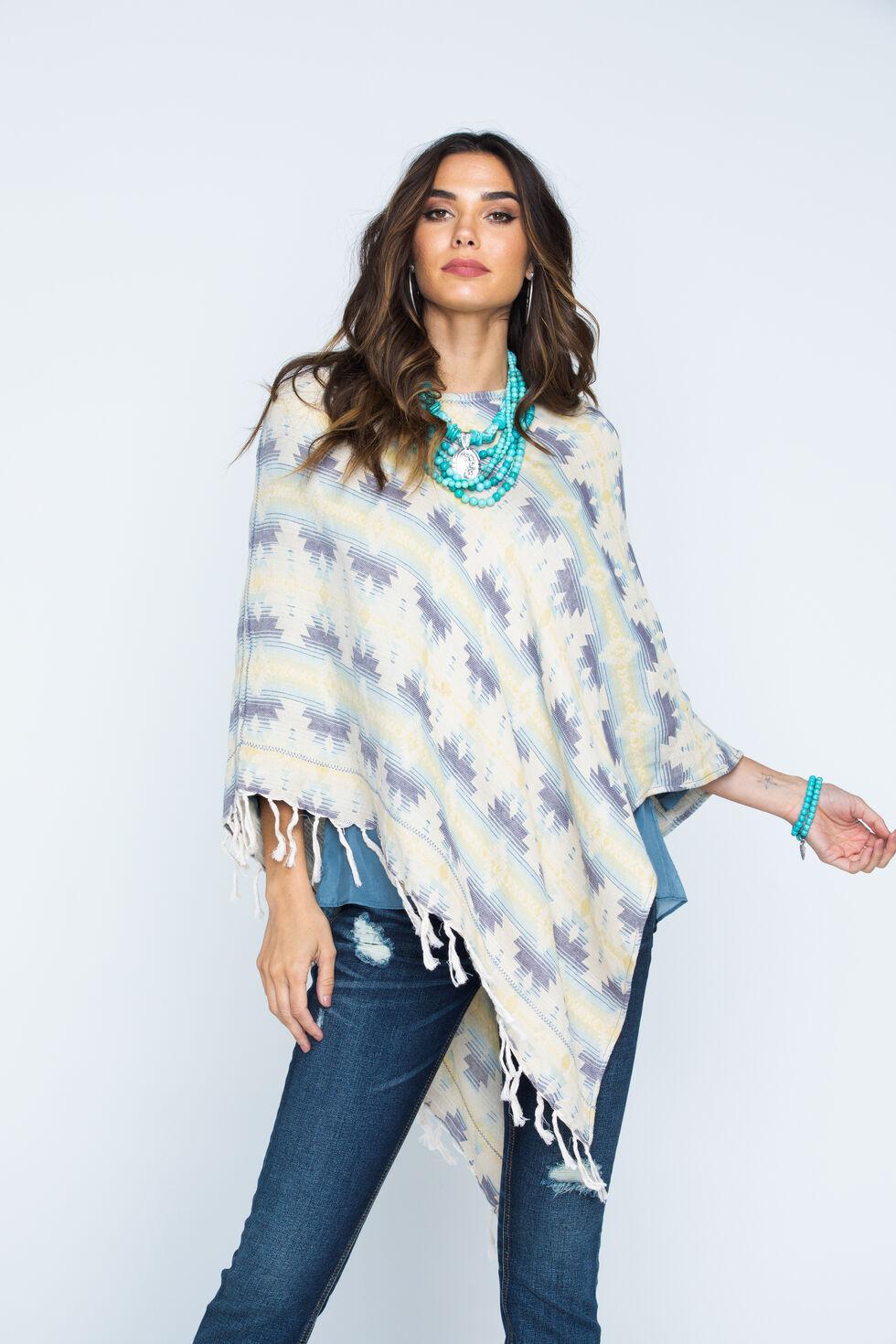 Ryan Michael Women's Southwest Jacquard Poncho, Multi, hi-res