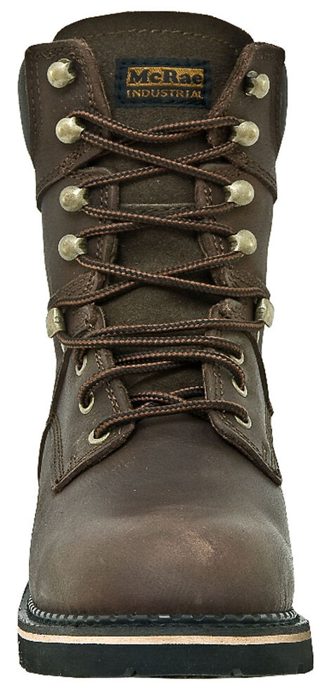 "McRae Industrial Men's 8"" Lace-Up Work Boots - Steel Toe, Dark Brown, hi-res"