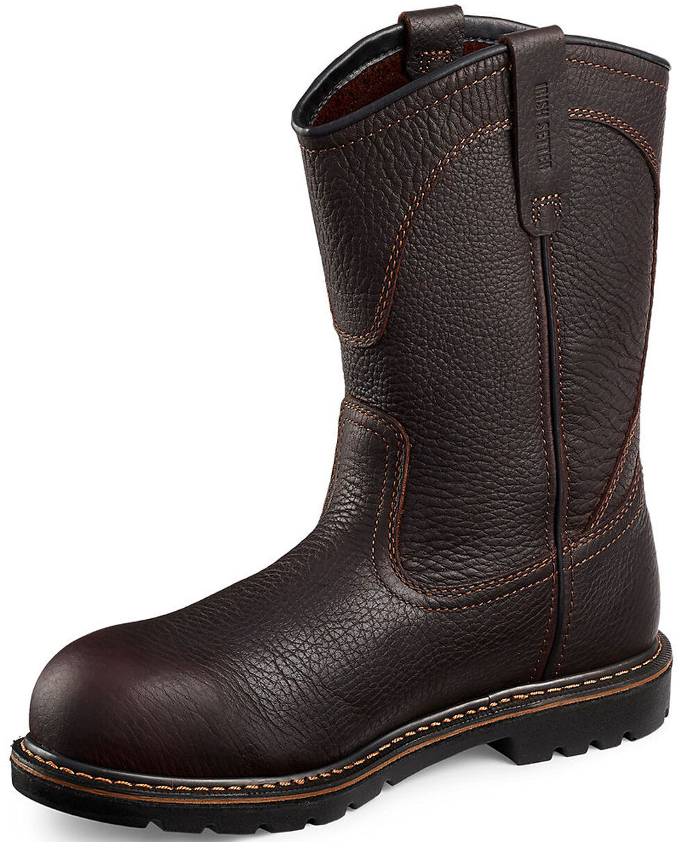 Irish Setter by Red Wing Shoes Men's Farmington Pull-On Work Boots - Aluminum Toe, Brown, hi-res