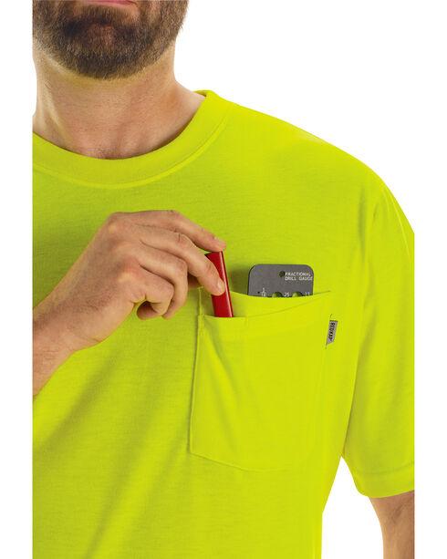 Red Kap Men's Visibility T-Shirt , Yellow, hi-res
